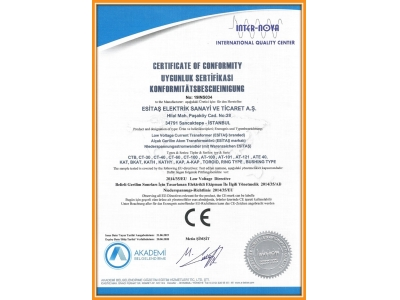 CE Compliance of Certificate