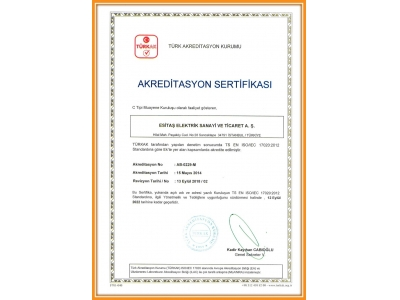 ISO 17020 ACCREDITED CERTIFICATE