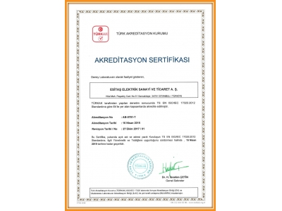 ISO 17025 ACCREDITED CERTIFICATE